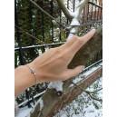 Bracelet chaine forcat or gris saphirs « Rose-Line » Bleu Ice