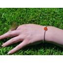 Bracelet chaine jaseron argent cornaline « Sapotille »