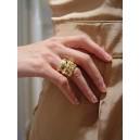Bague en or jaune diamants « Mood »